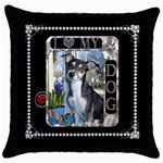 I Love My Dog Throw Pillow Case - Throw Pillow Case (Black)