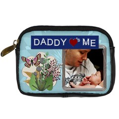Daddy Loves Me Digital Leather Camera Case By Lil    Digital Camera Leather Case   5m7minq728s1   Www Artscow Com Front