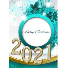 Merry Christmas 2018 5x7 Card (blue) By Deborah   Greeting Card 5  X 7    K54plzsav4hp   Www Artscow Com Front Cover