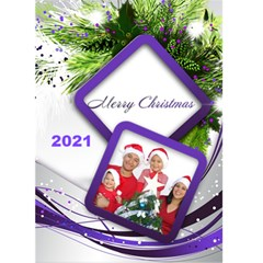 Purple And Silver Christmas 2019 (5x7) Card By Deborah   Greeting Card 5  X 7    Gb1qqdz5wvom   Www Artscow Com Front Cover