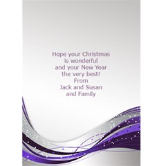Purple And Silver Christmas 2019 (5x7) Card By Deborah   Greeting Card 5  X 7    Gb1qqdz5wvom   Www Artscow Com Back Inside