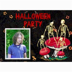 Halloween Invitaion 7 By Kim Blair   5  X 7  Photo Cards   22euhyysv76r   Www Artscow Com 7 x5  Photo Card - 9