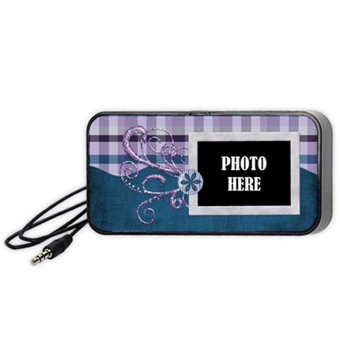 Lavender Rain Speaker 1 By Lisa Minor   Portable Speaker (black)   Bgpj26zip07g   Www Artscow Com Front