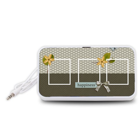 Portable Speaker (white) Happiness By Jennyl   Portable Speaker (white)   U9sgbqxl5j0u   Www Artscow Com Front