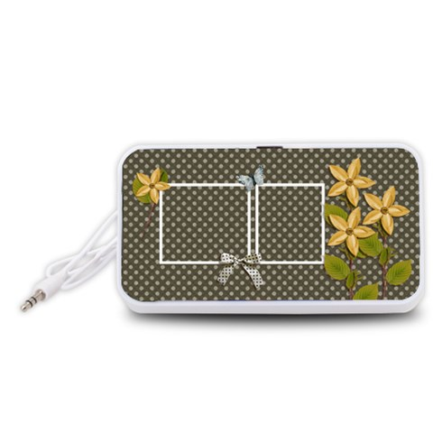 Portable Speaker (white)  Polka By Jennyl   Portable Speaker (white)   6qywwimg1lxw   Www Artscow Com Front