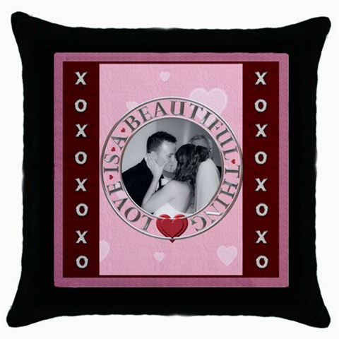 Love Is A Beautiful Thing Throw Pillow Case By Lil    Throw Pillow Case (black)   Drdxvlgj8fqt   Www Artscow Com Front