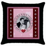 Love is a Beautiful Thing Throw Pillow Case - Throw Pillow Case (Black)