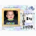 Ist Birthday Party 5x7 Invitation - 5  x 7  Photo Cards