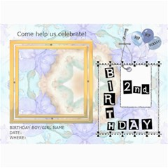 2nd Birthday Party 5x7 Invitation By Lil    5  X 7  Photo Cards   Nqbj9zwwc8cw   Www Artscow Com 7 x5 Photo Card - 1