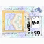 3rd Birthday Party 5x7 Invitation - 5  x 7  Photo Cards
