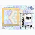 4th Birthday Party 5x7 Invitation - 5  x 7  Photo Cards