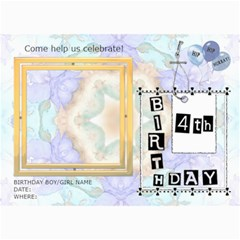 4th Birthday Party 5x7 Invitation By Lil    5  X 7  Photo Cards   A7tjcxlecm8k   Www Artscow Com 7 x5 Photo Card - 8