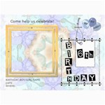 6th Birthday Party 5x7 Invitation - 5  x 7  Photo Cards