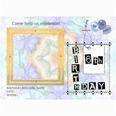 6th Birthday Party 5x7 Invitation By Lil    5  X 7  Photo Cards   Fyt26mojp0yw   Www Artscow Com 7 x5  Photo Card - 4