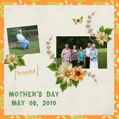 Family Mothers Day 2011 By Gayla Holmes Hardaway   Scrapbook Page 12  X 12    6leeyrtptj1l   Www Artscow Com 12 x12 Scrapbook Page - 1