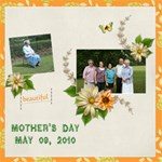 Family mothers day 2011 - ScrapBook Page 12  x 12