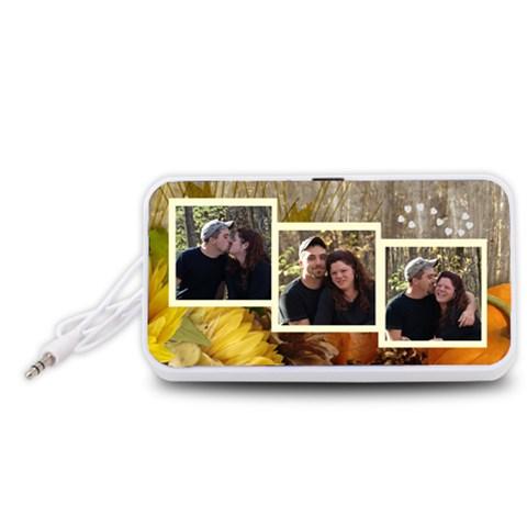 My Love Portable Speaker By Suzie   Portable Speaker (white)   Azhym4i4j36v   Www Artscow Com Front