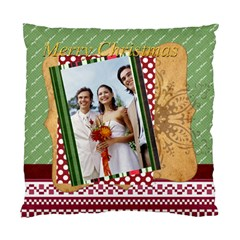 Merry Christmas By Joely   Standard Cushion Case (two Sides)   Anomrqxsiz71   Www Artscow Com Back