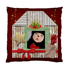 Merry Christmas By Joely   Standard Cushion Case (two Sides)   4aias1xhjmad   Www Artscow Com Front