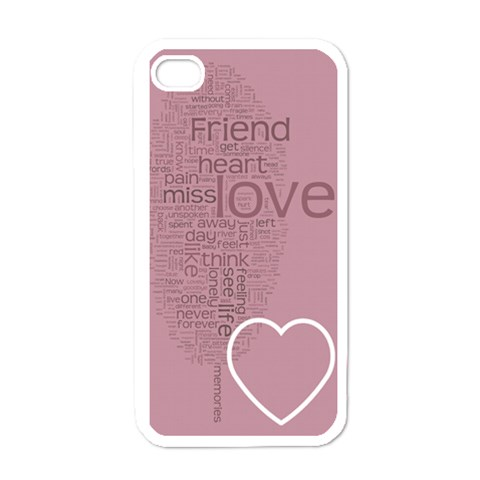 Text Art   Friend  By Hugo Alpha   Apple Iphone 4 Case (white)   Entgx63yb5hw   Www Artscow Com Front
