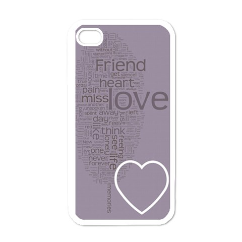 Text Art   Friend  By Hugo Alpha   Iphone 4 Case (white)   Yqww9c3f9pcd   Www Artscow Com Front