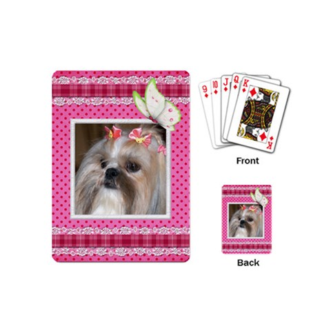 My Little Girl Mini Playing Cards By Deborah   Playing Cards (mini)   5j60gacbngjr   Www Artscow Com Back