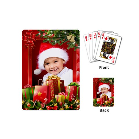 My Christmas Mini Playing Cards By Deborah   Playing Cards (mini)   Qq3bpg241jug   Www Artscow Com Back