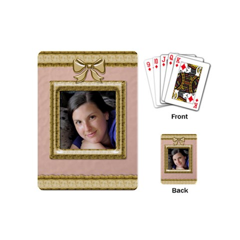 Picture Perfect Mini Playing Cards By Deborah   Playing Cards (mini)   N7cejbu7att7   Www Artscow Com Back
