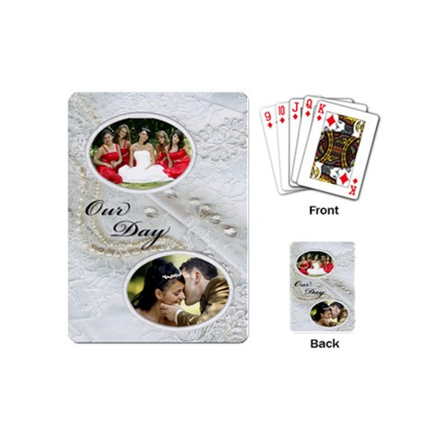 Our Day Mini Playing Cards By Deborah   Playing Cards (mini)   R3wuo82vhgp4   Www Artscow Com Back