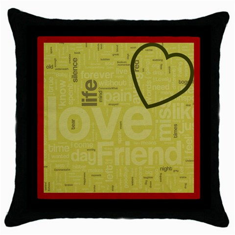 Text Art   Blk Cushion  01 By Hugo Alpha   Throw Pillow Case (black)   Rzc8dtxlkv8r   Www Artscow Com Front