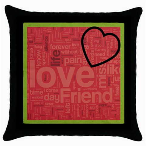 Text Art   Blk Cushion  04 By Hugo Alpha   Throw Pillow Case (black)   7rmh26r1ibts   Www Artscow Com Front