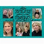blue christmas card - 5  x 7  Photo Cards