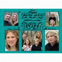 Blue Christmas Card By Patricia W   5  X 7  Photo Cards   P6iksln2tzr7   Www Artscow Com 7 x5  Photo Card - 6