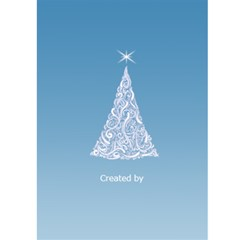 Pastel Blue 5x7 Christmas Card By Deborah   Greeting Card 5  X 7    Kftyg8a1k7h0   Www Artscow Com Back Cover
