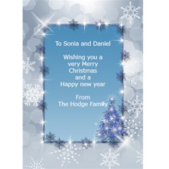 Pastel Blue 5x7 Christmas Card By Deborah   Greeting Card 5  X 7    Kftyg8a1k7h0   Www Artscow Com Back Inside