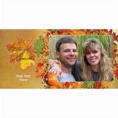 Autumn    Fall Photo Card Sample By Laurrie   4  X 8  Photo Cards   3l9e6sd3v9au   Www Artscow Com 8 x4 Photo Card - 9