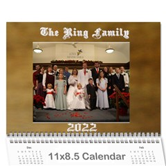 2015 Ring Family Calendar By Kim Blair   Wall Calendar 11  X 8 5  (12 Months)   Odiilw3d46oa   Www Artscow Com Cover