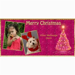 Cherry Red Christmas 4x8 Photo Card By Deborah   4  X 8  Photo Cards   V5s6u0kjsa2e   Www Artscow Com 8 x4 Photo Card - 1