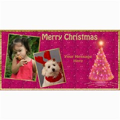 Cherry Red Christmas 4x8 Photo Card By Deborah   4  X 8  Photo Cards   V5s6u0kjsa2e   Www Artscow Com 8 x4 Photo Card - 8