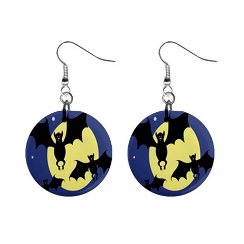 Halloween Earrings By Jolene   1  Button Earrings   En0ihp0tgqek   Www Artscow Com Front