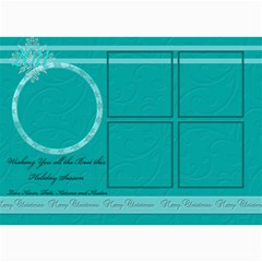 Blue And White 5 Frame Card By Patricia W   5  X 7  Photo Cards   Khowyoycyiir   Www Artscow Com 7 x5 Photo Card - 5