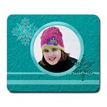 winter mousepad - Large Mousepad