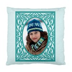 blue frame cushion - Cushion Case (One Side)