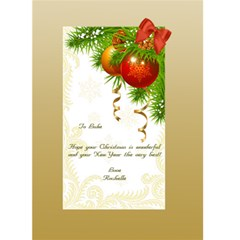 Pastel Gold 5x7 Christmas Card By Deborah   Greeting Card 5  X 7    5jycao4w9lkb   Www Artscow Com Back Inside