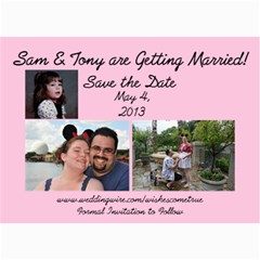 Save The Date By Samantha Woody   5  X 7  Photo Cards   K1n86ykxz87i   Www Artscow Com 7 x5 Photo Card - 1
