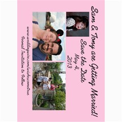 Save The Date By Samantha Woody   5  X 7  Photo Cards   K1n86ykxz87i   Www Artscow Com 7 x5 Photo Card - 3
