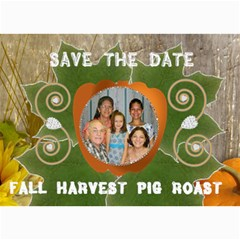 Fall Harvest Pig Roast By Kim Blair   5  X 7  Photo Cards   D45qz0v7say4   Www Artscow Com 7 x5 Photo Card - 1