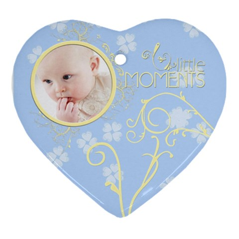 Serenity Blue Ornament (heart) By Picklestar Scraps   Ornament (heart)   0s8ed5zk6e85   Www Artscow Com Front