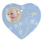 Serenity Blue Ornament (Heart)
