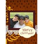 merry christmas - Greeting Card 5  x 7